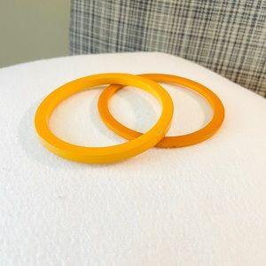 Yellow/Orange Vintage Plastic Bangles